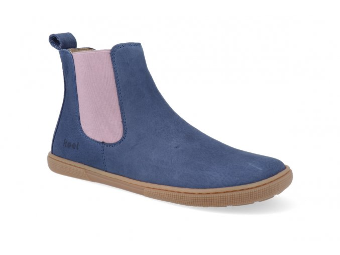barefoot chelsea boot koel4kids bernardo adult blue pink 2