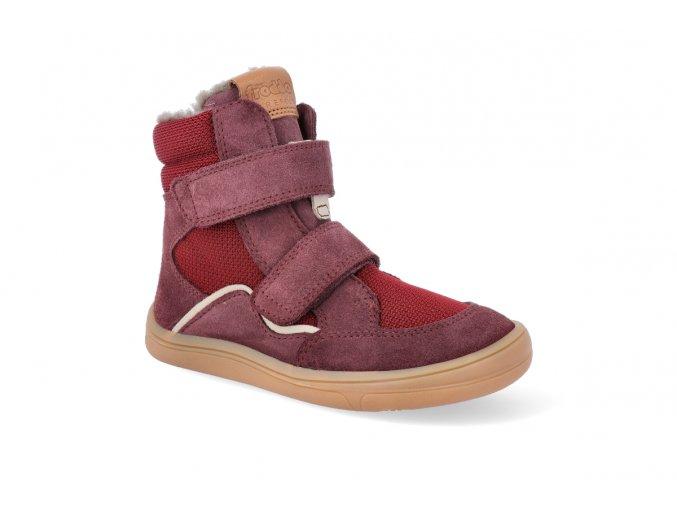barefoot zimni obuv s membranou froddo bf bordeaux 2