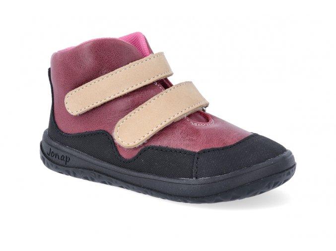 barefoot kotnikova obuv jonap bella m cervena 4