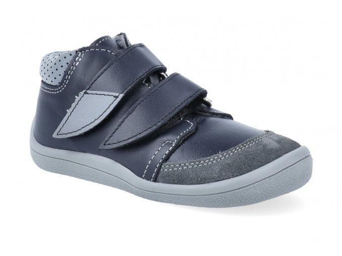 barefoot kotnikova obuv s membranou beda luc s velurovym okopem 2 2