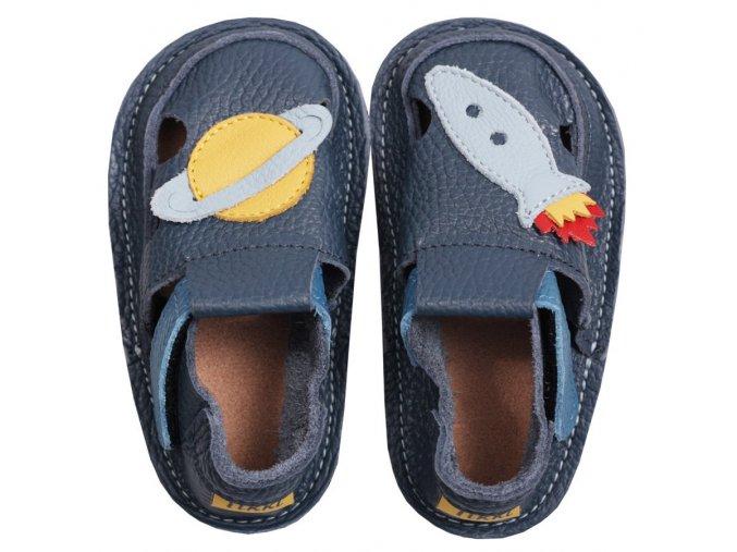 barefoot kids sandals blue rocket 75 4