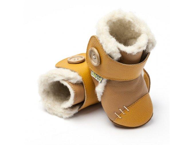 liliputi soft soled booties wheat 3202