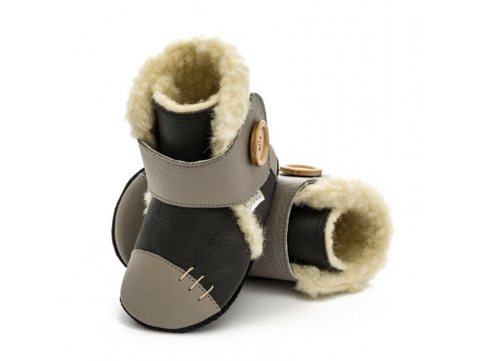 liliputi soft soled booties metal 3215