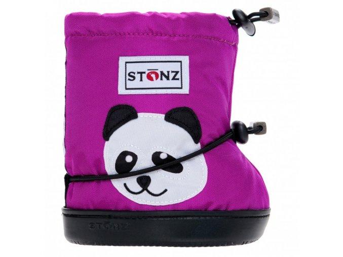 stonz booties toddler panda magenta