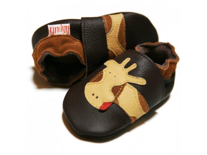liliputi soft baby shoes brown giraffe 1528 (1)