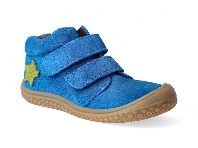 kotnikova obuv filii barefoot klett royalblue star m 2