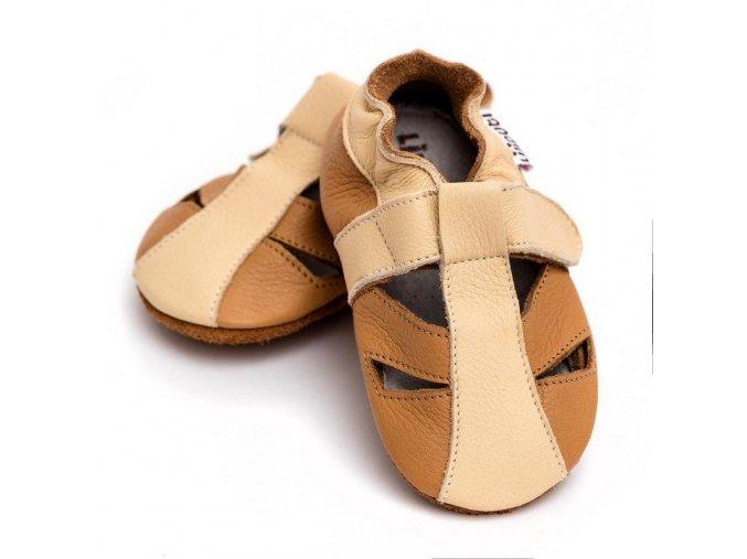 liliputi soft baby sandals peanut butter 3410