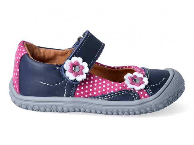 Barefoot baleríny Filii - Ocean/pink/flower M