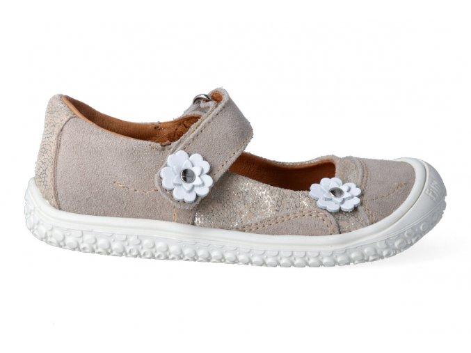 Filii barefoot Ballerina Platino/flower Klett M