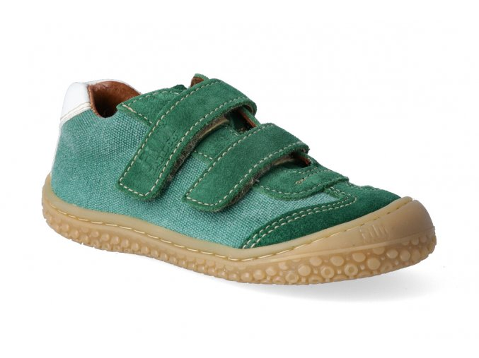 barefoot tenisky filii barefoot textil velur green m 3