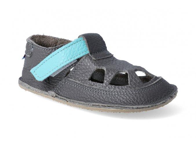 baby bare shoes io blue beetle letni 3