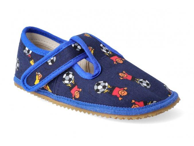 beda papucky na suchy zip modry fotbal 2