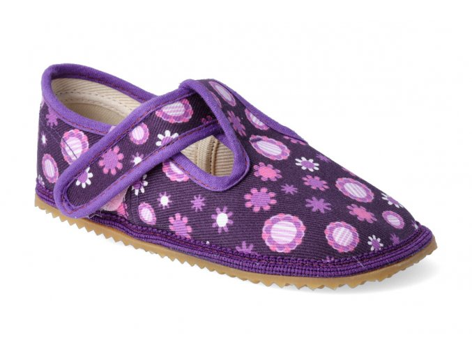beda papucky na suchy zip fialove kvitky 2