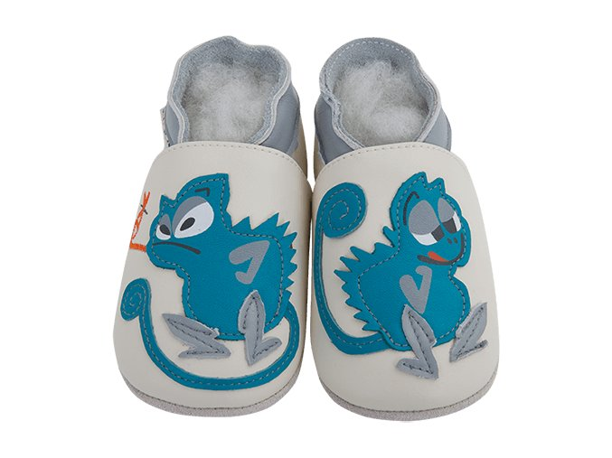 Chaussons cuir Cameleon Front