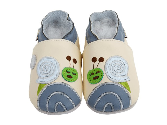 Chaussons cuir Escargot Front