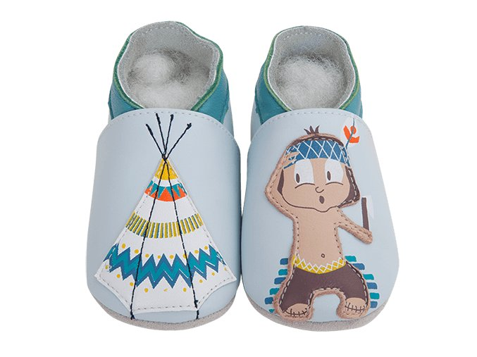 Chaussons cuir Indien Front