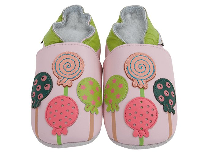 Chaussons cuir Sucettes Front