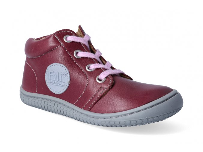 kotnikova obuv filii barefoot gecko laces nappa berry m 2