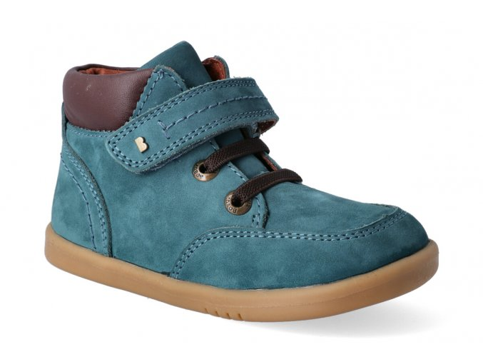 bobux iwalk timber airforce teal leather boot 632602