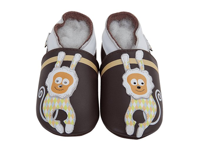Chaussons cuir Singe Front