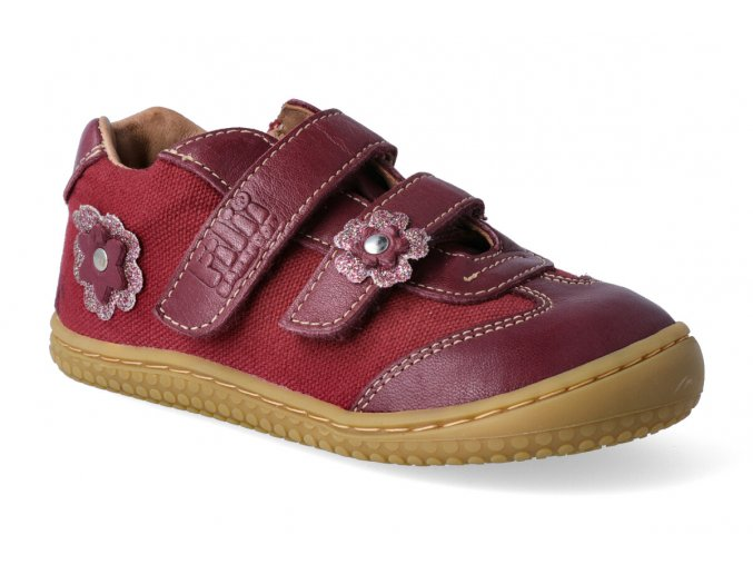 filii barefoot tenisky leguan nappa textile berry w 3
