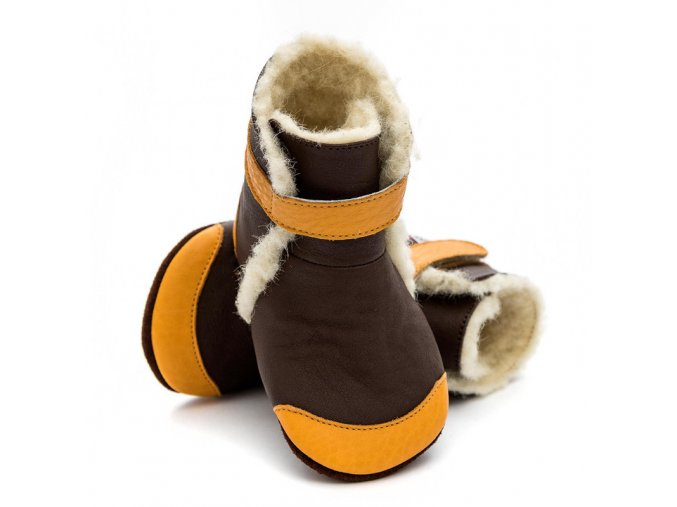 liliputi soft soled booties gingerbread 3588