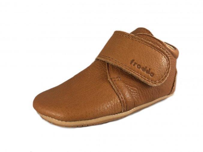 Barefoot capáčky Froddo - Prewalkers Cognac
