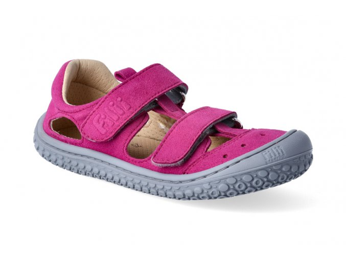 Filii Barefoot KAIMAN vegan velcro textile pink M 2