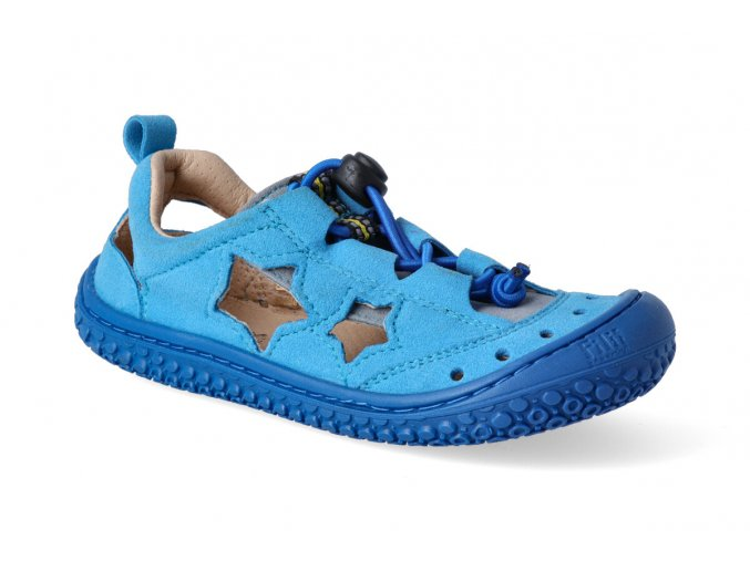 filii barefoot sandaly sea star vegan quick lock textile turquoise blue m 3