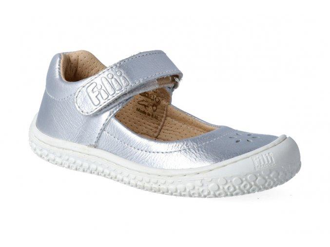 filii barefoot elsa velcro nappa silver m 2