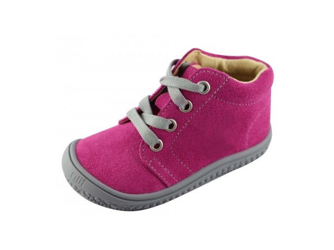 Filii Barefoot GECKO laces velours pink W
