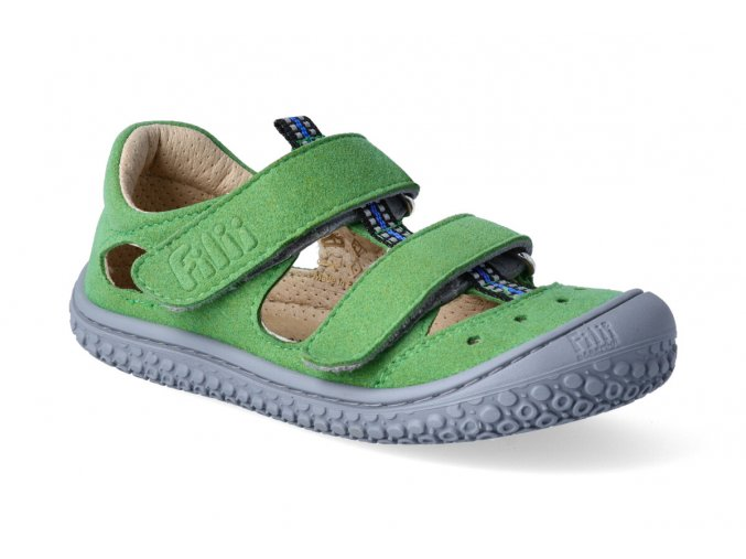 filii barefoot sandaly kaiman vegan velcro textile apple w 2