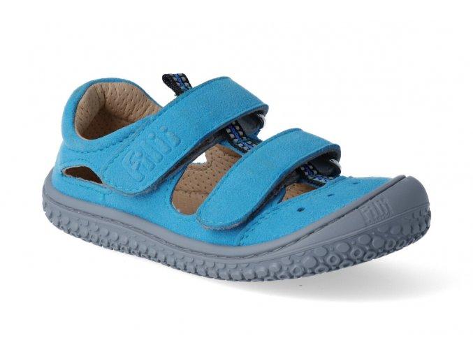 Filii Barefoot KAIMAN vegan velcro textile turquoise W 2