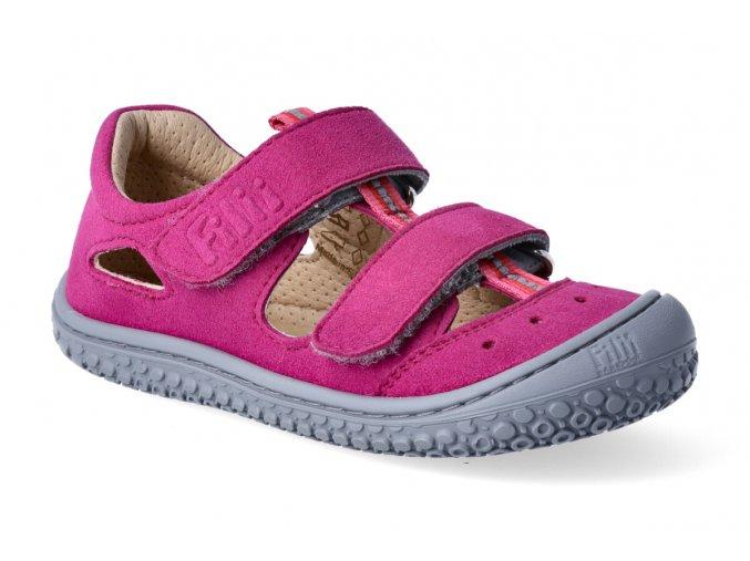Filii Barefoot KAIMAN vegan velcro textile pink W 3