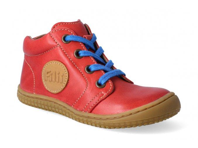 kotnikova obuv filii barefoot gecko laces nappa tomato m 2