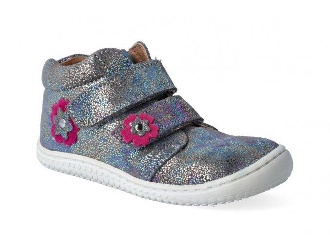 filii barefoot chameleon velcro velours glitter graphit m 3