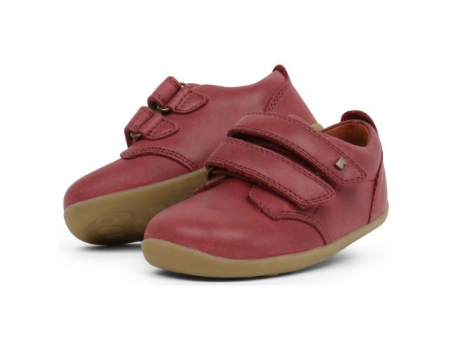 bobux step up port shoe dark red 727709 sizes 20 22