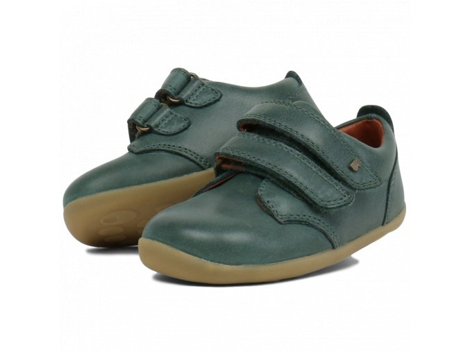 bobux step up port shoe forest green 727707 sizes 20 22