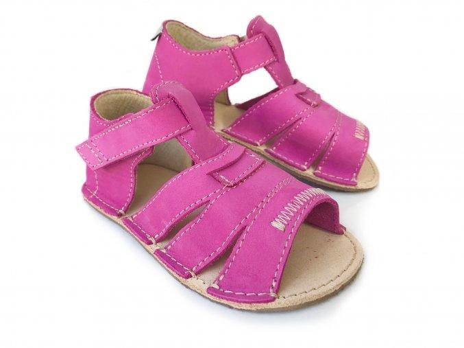Barefoot sandálky ORTO+ - dětské fuchsiové 36