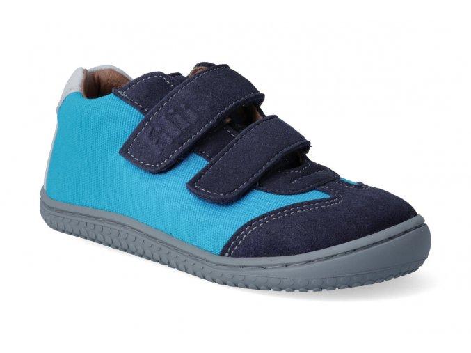 filii barefoot leguan velcro velours textile ocean turquois w 2