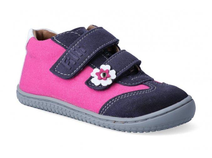 leguan velcro velours textile ocean pink w 3