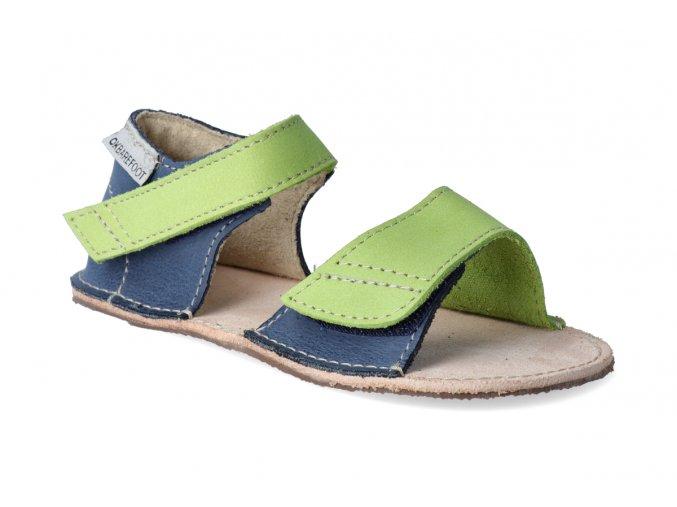okbarefoot barefoot sandaly detske modro zelene 51 008 3
