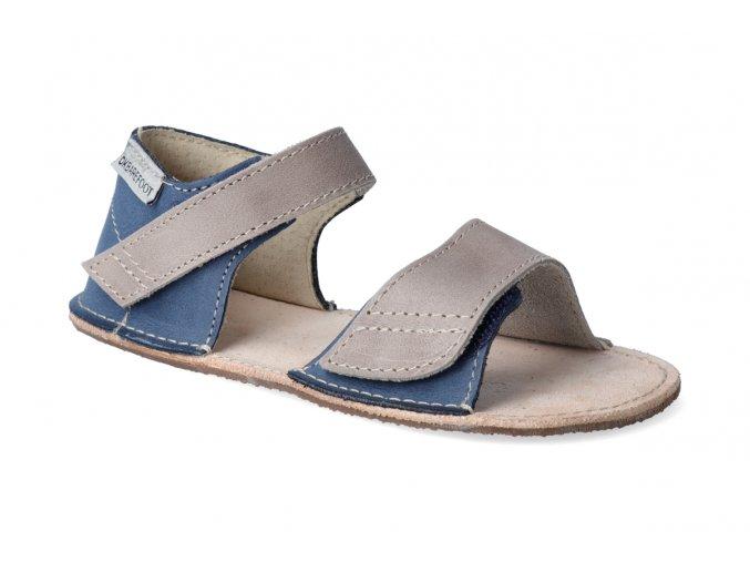 okbarefoot barefoot sandaly detske modro sede 51 06 2