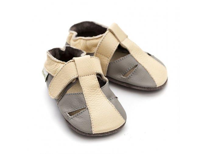 liliputi soft baby sandals atacama grey 2717