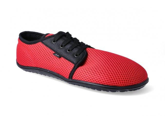 beda sitovane tenisky cervene 2