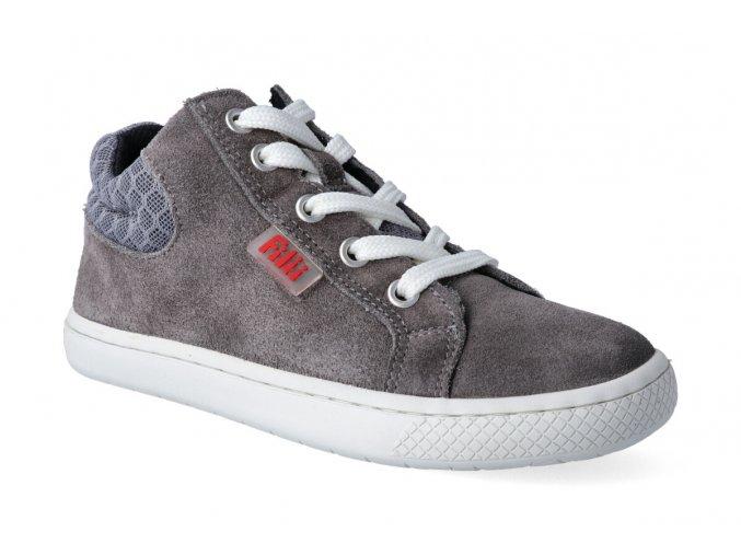 kotnikova obuv filii barefoot skater one laces velours grey m 2