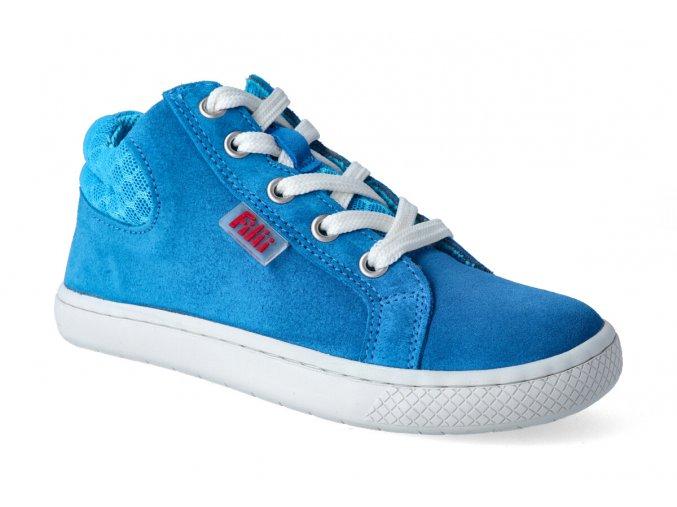 kotnikova obuv filii barefoot skater one laces velours turquoise m 3