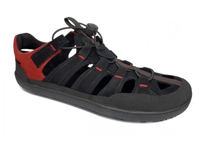 Barefoot sandály Sole Runner - FX Trainer 4 Sandal Black/red