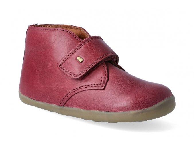 kotnikova obuv bobux desert boot dark red step up 2
