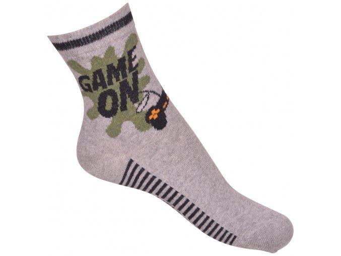 Ponožky Move by Melton - Game On Light Grey Melange